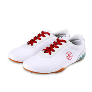 Martial Arts Trainers Shoes Sneakers Sport Canvas Footwear Taekwondo Shoes White