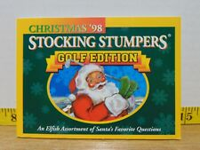 Christmas '98 Stocking Stumpers Golf Edition (1998, Paperback)