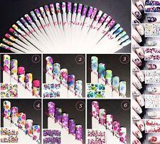 Nail Art Water Transfer Stickers-Decals-Adesivi Unghie-Bellissimi Fiori-Manicure