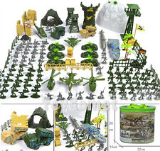 150 pcs Military Plastic Toy Soldier Army Men 1:72 Figures & Accessories Playset