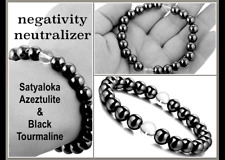 Negativity Neutralizer Satyaloka Azeztulite Black Tourmaline Healing Bracelet