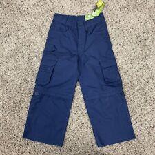 Cub Scouts Switchback 2 Blue Uniform Convertible Cargo Pants Sz 4 NWT Unhemmed