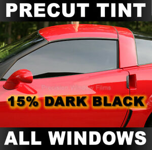 Lincoln Continental 95-02 PreCut Window Tint - Dark Black 15% VLT Film