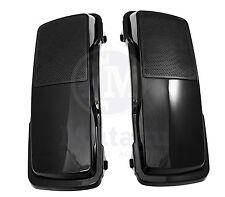 Mutazu 6 x 9 Speaker Lids Vivid Black for Harley Touring Saddlebags 94-2013