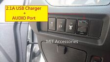 MIT TOYOTA SIENNA CAMRY COROLLA 2012-17 USB port 2.1A power charger+AUDIO