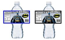 20 BATMAN PERSONALIZED BIRTHDAY PARTY FAVORS WATER BOTTLE LABELS WRAPPERS