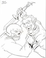 ANTHONY CACIOPPO~THE RED SKULL VS. THE JOKER  PINUP~WOW!