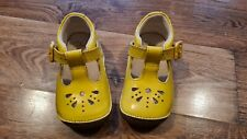 Baby Girls Mustard Yellow Clarks First Shoes Size 3F