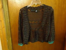 "Womens Good Clothes Size M Crocheted Type Of Brown Shawl / Top "" BEAUTIFUL TOP """