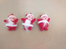 3 x VINTAGE CHRISTMAS  DECORATIONS