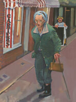 John Cherrington (1931-2015) - 20th Century Oil, Elderly Lady in Green