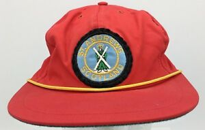 Vtg St Andrews Scotland Golf Course Patch Front Made in England Corsair Hat Cap