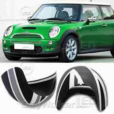 For Mini Cooper/S/ONE R50 R52 R53 Black Union Jack Side Mirror Covers Caps Set