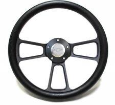 Black Vinyl Steering Wheel+Adapter For 1969-1994 Chevrolet Camaros SHIPS FREE!!