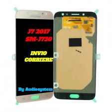 DISPLAY LCD +TOUCH SCREEN per SAMSUNG GALAXY J7 2017 SM-J730F ORO GOLD VETRO