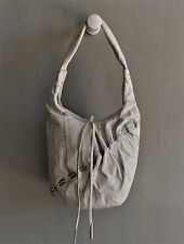 RENATO ANGI Italy Silver Highlights Ivory Snakeskin Leather Medium Hobo Bag EUC