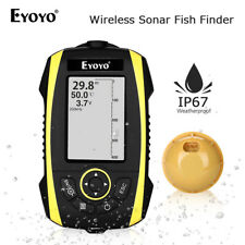 Portable 2.4 Inch Wireless Sonar Sunlight Readable Fish Finder Detector Fit Sea