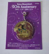 Tokyo Disneyland 20th Anniversary Mickey Mouse Tinkerbell Charm Dangle Disney