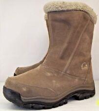 Sorel WATER FALL Womens US 6 Beige Suede Zip Thinsulate Waterproof Winter Boots