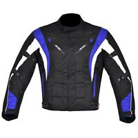 Men's Motorcycle Motorbike Jacket Waterproof Cordura CE Armoured Blue