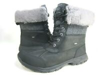 UGG MEN'S BUTTE HERRINGBONE SNOW BOOT BLACK LEATHER US SIZE 10 EUR 43 M