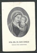 holy card antique de la Virgin del Buen Consejo santino image pieuse estampa