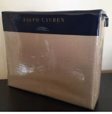 RALPH LAUREN Cotton KING BLANKET Burnished Chamois PALMER PERCALE Taupe Tan NWT