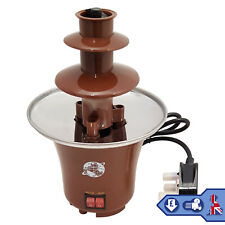 Brown 3 Tier Chocolate Fountain Party Fondue Stainless Steel Molten Chocolate