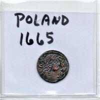 Poland 1665 Solidus Coin As Pictured