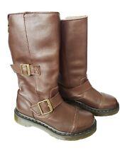 Dr. Martens Women's Kathleena  Brown Leather Boot Size  EU 36/ US6 Biker