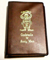Vintage Cocktails by Andy Man Recipe Book 1970s + Rare Bonus Poster