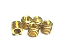 5pcs 3/8-16 thread allen headless screws brass grub bolts hex socket screw bolt