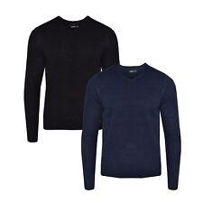 Mens Sweatshirt Knitwear Sweater Jumper Pullover V Neck Long Sleeve Top BNWT