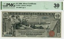 $1 1896 Silver Certificate - Educational Currency - PMG 30