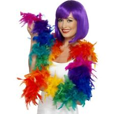 PRIDE Accessorio COLORATI ARCOBALENO Feather Boa Costume MASCHIETTA 80g