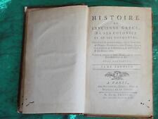 GILLIES-HISTOIRE DE L'ANCIENNE GRECE ET DE SES COLONIES-PARIS 1787/1788