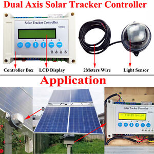 Complete Dual Axis PV Solar Panel Tracking Sun Tracker Electronic LCD Controller