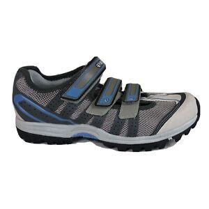Pearl Izumi X-Alp Drift MTB Cycling Shoes Womens US 9 EU 41 Gray Blue 2 Bolt Euc