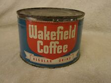 WAKEFIELD COFFEE TIN CAN 1 LB. KEY WIND DWIGHT EDWARDS SAN FRANCISCO CALIFORNIA