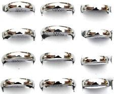 24 pcs fashion argent acier inoxydable anneaux gros vrac lots men's jewelry zy