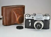 """RARE EDITION USSR """"ZENIT-3M"""" SLR camera WITH """"MADE IN USSR"""" SIGN ON BODY (1)"""