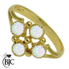 Anelli di lusso con gemme multicolore tondi in pietra principale opale