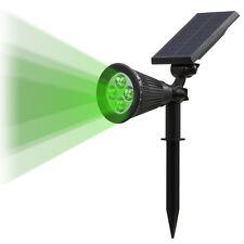 Solar Powered Outdoor Lawn Garden Security LED Flood Spot Light Waterproof Lamps