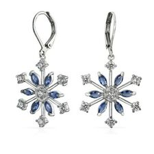 Marquise Sapphire Costume Earrings