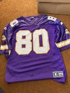 Vintage 90s Starter NFL Minnesota Vikings Chris Carter 80 Jersey Men's 48 L