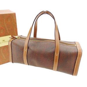 Etro Handbag Paisley Brown Woman Authentic Used Y2974