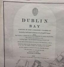 ADMIRALTY  SEA  CHART. DUBLIN BAY. No.1415. IRELAND. 1875, This Edition 1912.