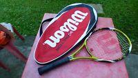 raquette de tennis Wilson K Factor brave Arophite Black  L 3  racquet vintage