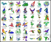 54 Bird Files Embroidery Digitized Stitches Design to Run Machine