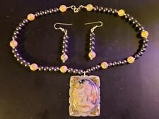 Sterling Silver Earth Colored Beads - Necklace & Earring Set Southwestern Motif